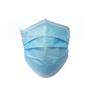 4 layer non-woven disposable high quality wholesale blue face mask