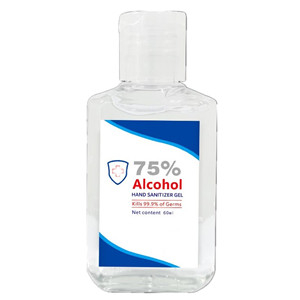 Pocket 60ml Waterless 75% Alcohol Hand Sanitizer Gel Disinfectant Skin Care