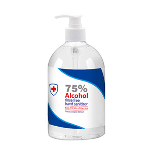 Household 500ml Waterless Disinfectant Gel 75% Alcohol Rinse-Free Hand Sanitizer