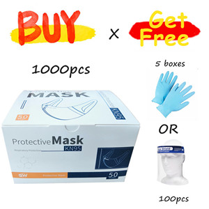 KN95 Antivirus Dust Particle Protective Non-woven White Disposable Face Mask